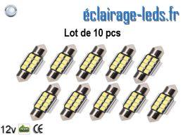 Ampoules LED C5W automobile intérieur blanc 12v