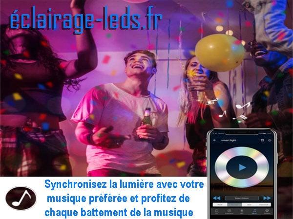 Bandeau LED RGB 15m Wifi connecté + synchronisation musicale