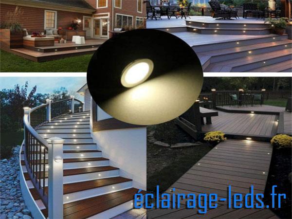 Kit 16 spots LED encastrables Mur et Sol 6w blanc naturel 12v