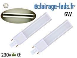 Lot de 2 ampoules LED G23 6W blanc naturel IP20 230v