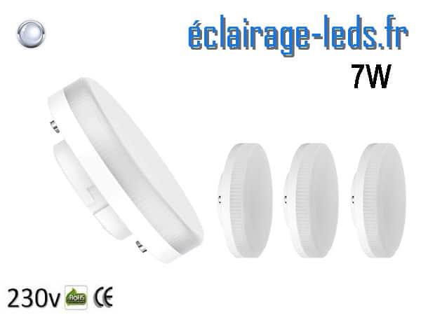 lot de 4 Ampoules LED GX53 7W blanc froid 230v
