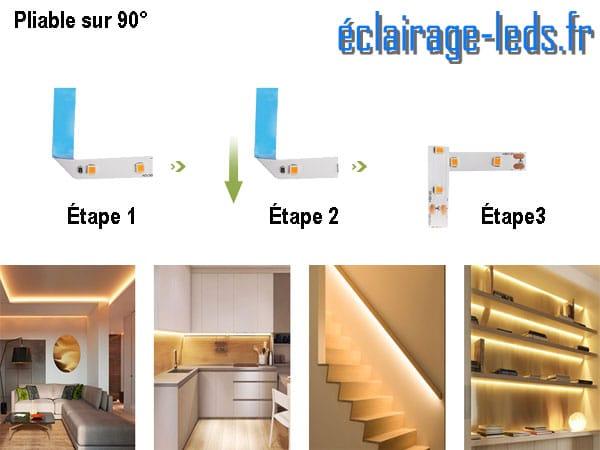 Ruban LED 12M dimmable blanc chaud interrupteur sans contact 24v