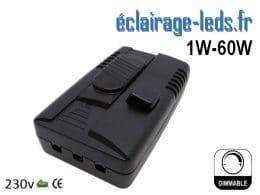 Variateur d'intensité lumineuse LED 1w à 60w 230v
