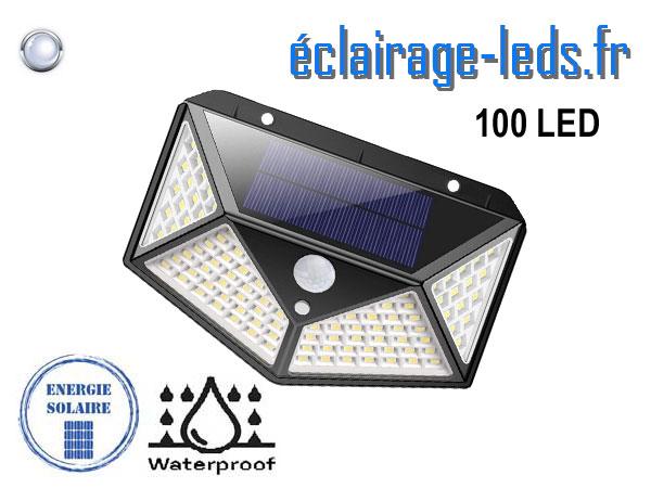 Applique Solaire 100 LEDs blanc froid IP65