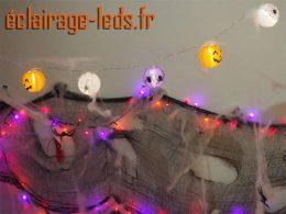 Guirlande 15 lanternes LED halloween 3M sur USB