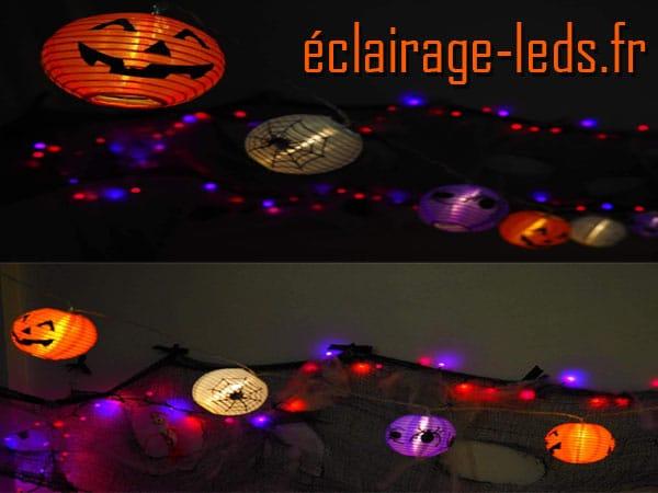 Guirlande 15 lanternes LED halloween 3M
