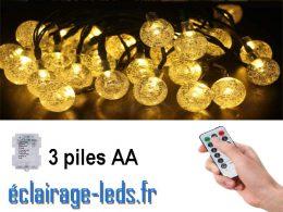 Guirlandes lumineuse LED 5M | 30 Boules cristal sur pile