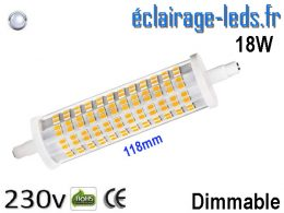 Ampoule LED R7S dimmable 18w 118mm blanc froid