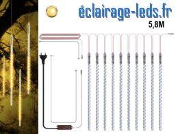 Guirlande LED 10 tubes effet neige blanc chaud IP65