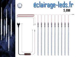 Guirlande LED 10 tubes effet neige blanc froid IP65