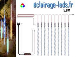 Guirlande LED 10 tubes effet neige Multicolore IP65