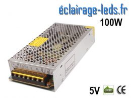 Transformateur LED Pour Intégration 5V DC 100W