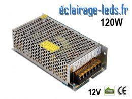 Transformateur LED 120W Pour Intégration 12V DC