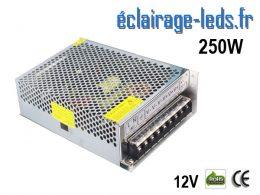 Transformateur LED 250W Pour Intégration 12V DC