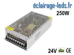 Transformateur LED 250W Pour Intégration 24V DC