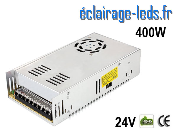 Transformateur LED 400W Pour Intégration 24V DC