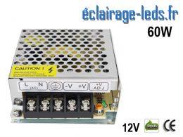 Transformateur LED 60W Pour Intégration 12V DC