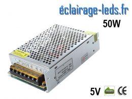 Transformateur LED Pour Intégration 5V DC 50W