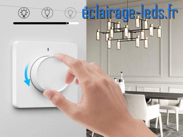 Variateur intensité LED rotatif dimmable Wifi 230v