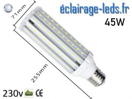 Ampoule LED E40 maïs 45W blanc froid 230v