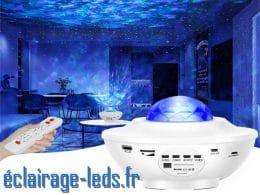 Projecteur LED multicolore Étoilé Bluetooth télécommande
