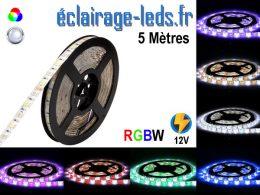Bandeau LED 5 mètres RGBW IP65 smd 5050 12v