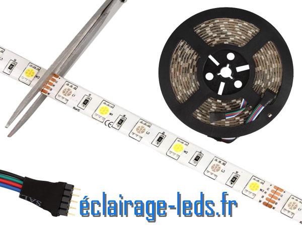 Bandeau LED 5 mètres RGB+W sécable