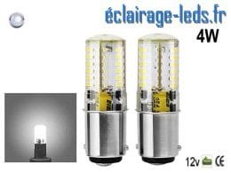 Ampoules LED ba15d silicone 4W Blanc froid 12v