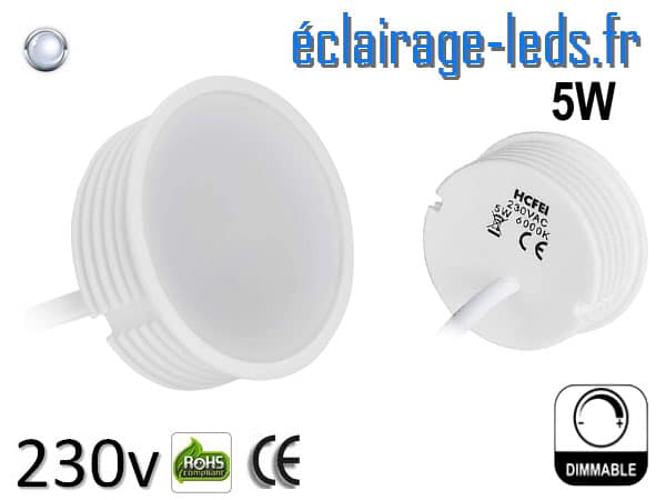 Module LED Ultra plat 5w blanc froid dimmable 230v