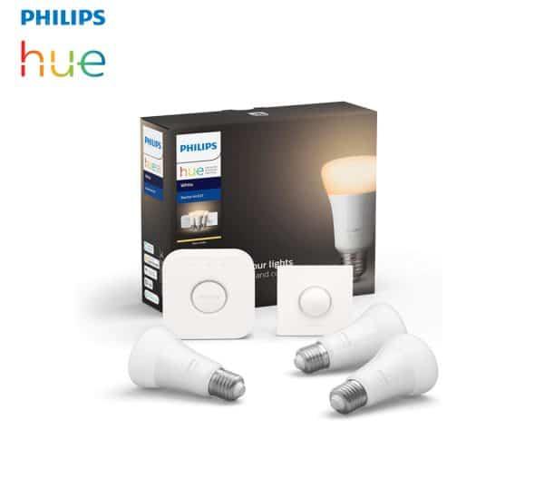3 Ampoules LED E27 Philips Hue + pont + interrupteur