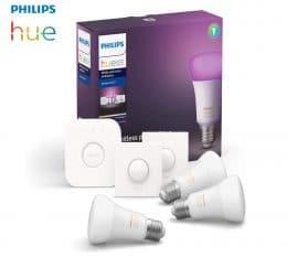 kit ampoules led E27 philips hue + accessoire connexion