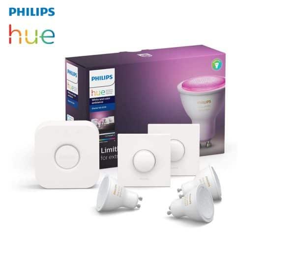 kit 3 ampoules led GU10 philips hue + accessoires
