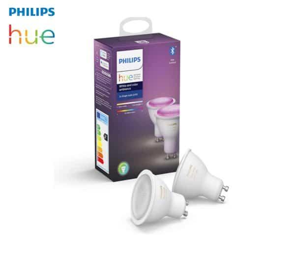 Ampoules LED GU10 Philips Hue rgb+w+ww Alexa