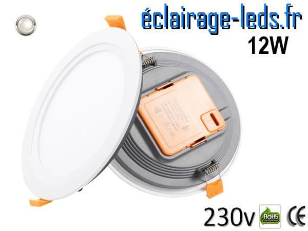 Spot LED Ultra fin 12w blanc naturel 230v
